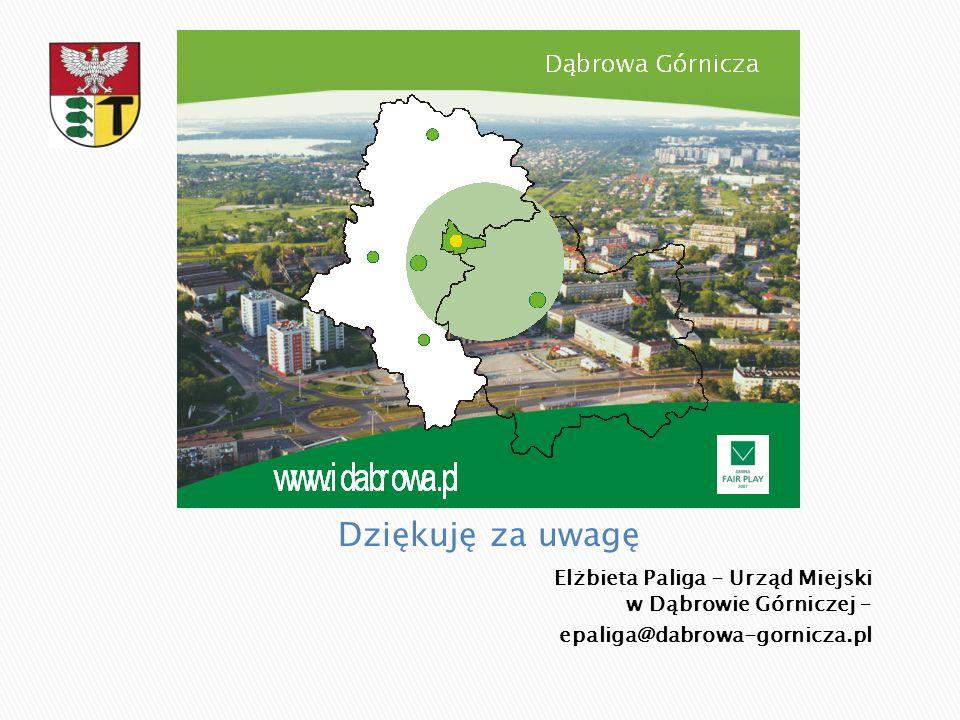 Dziękuję za uwagę Elżbieta Paliga - Urząd Miejski w Dąbrowie Górniczej – epaliga@dabrowa-gornicza.pl.