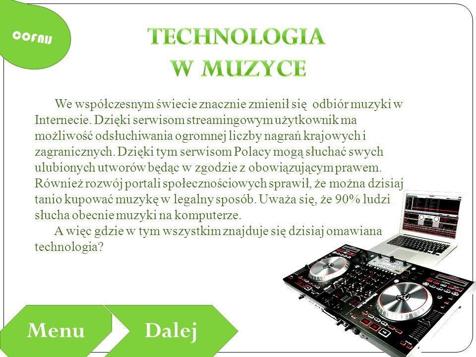 Technologia w Muzyce Menu Dalej