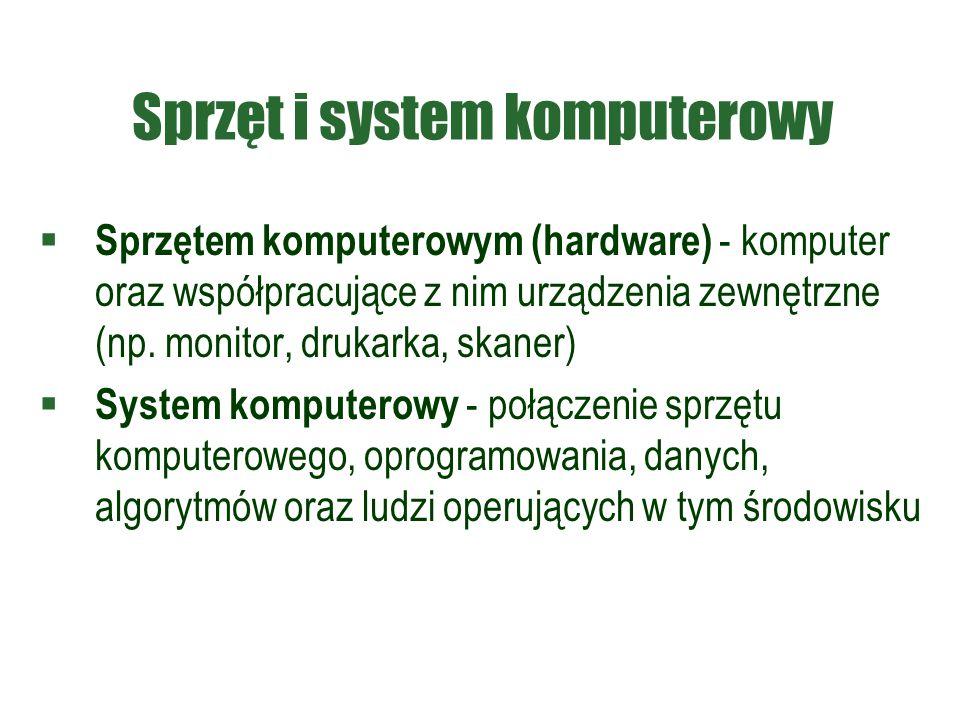 Sprzęt i system komputerowy
