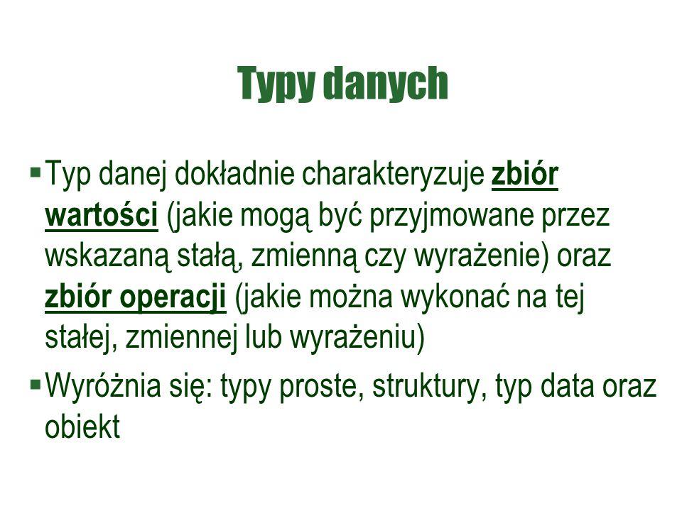 Typy danych