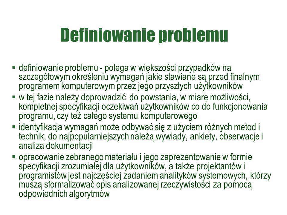 Definiowanie problemu