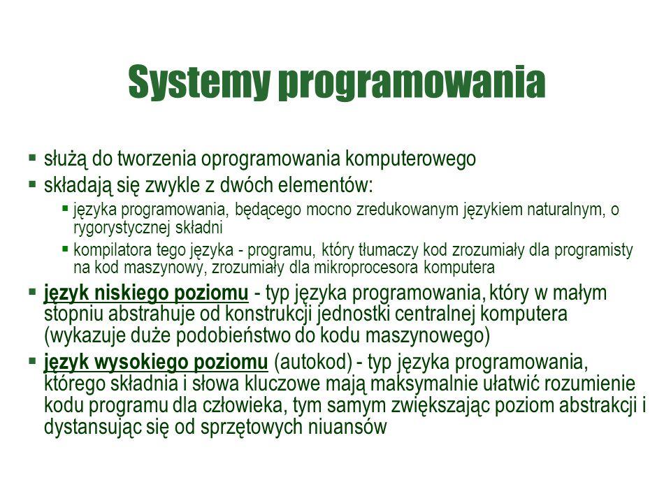 Systemy programowania
