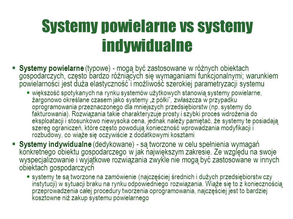 Systemy powielarne vs systemy indywidualne