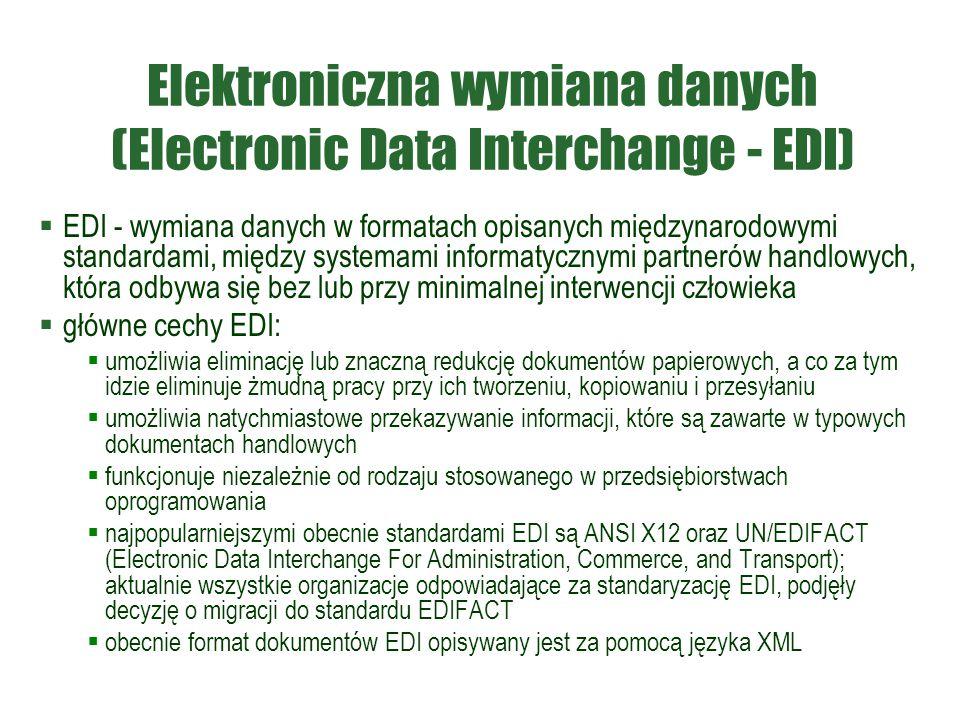 Elektroniczna wymiana danych (Electronic Data Interchange - EDI)