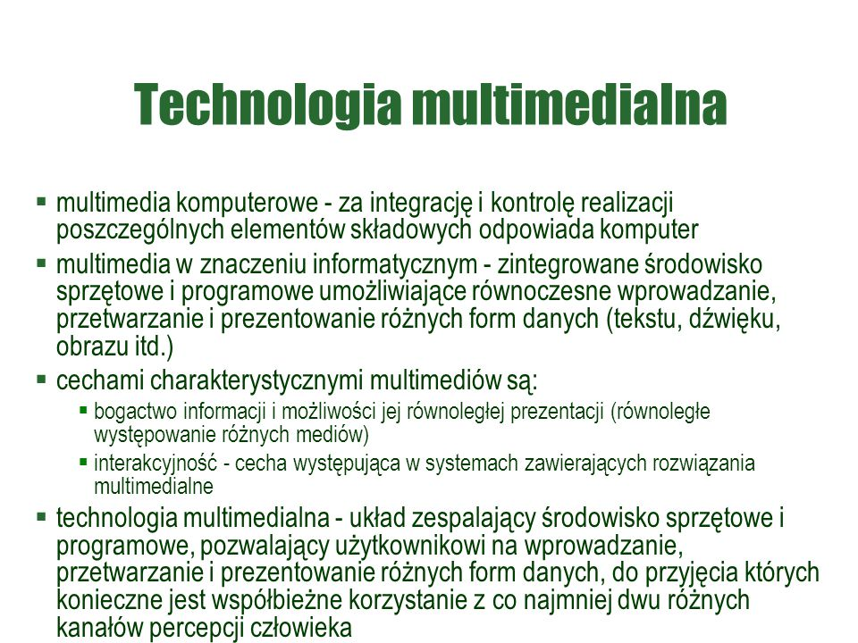 Technologia multimedialna
