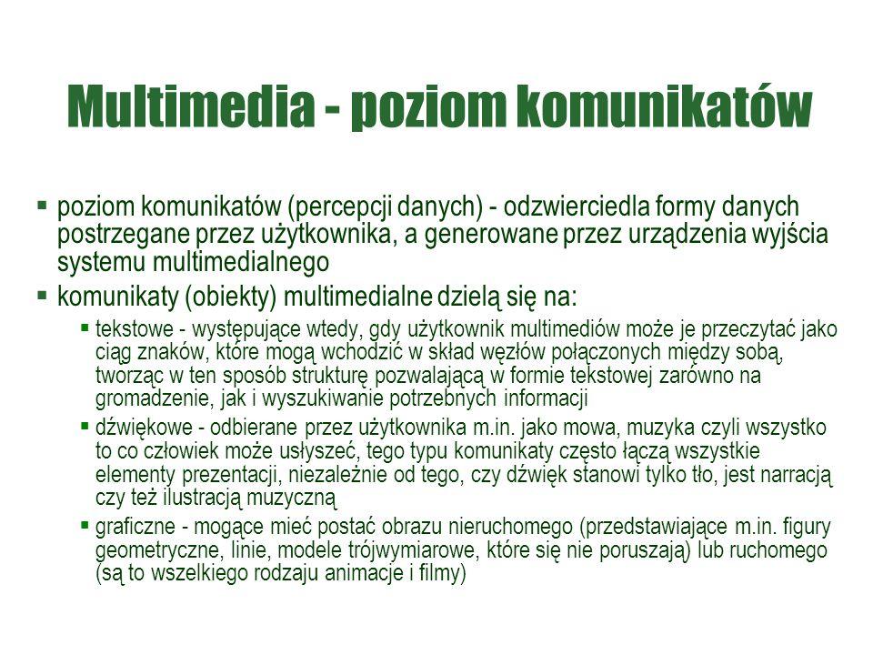 Multimedia - poziom komunikatów