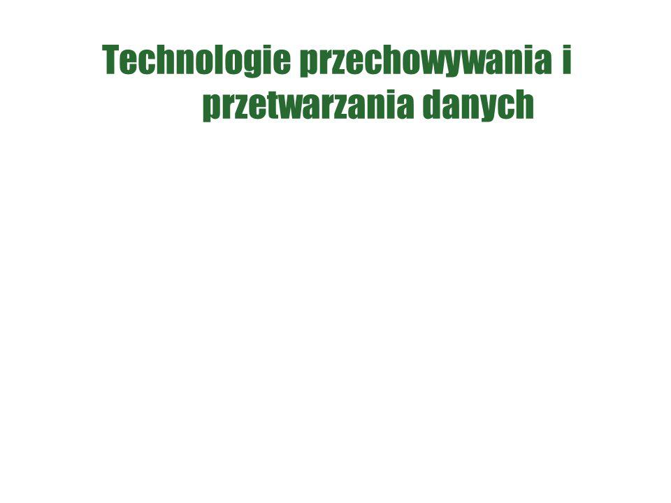 Technologie przechowywania i przetwarzania danych