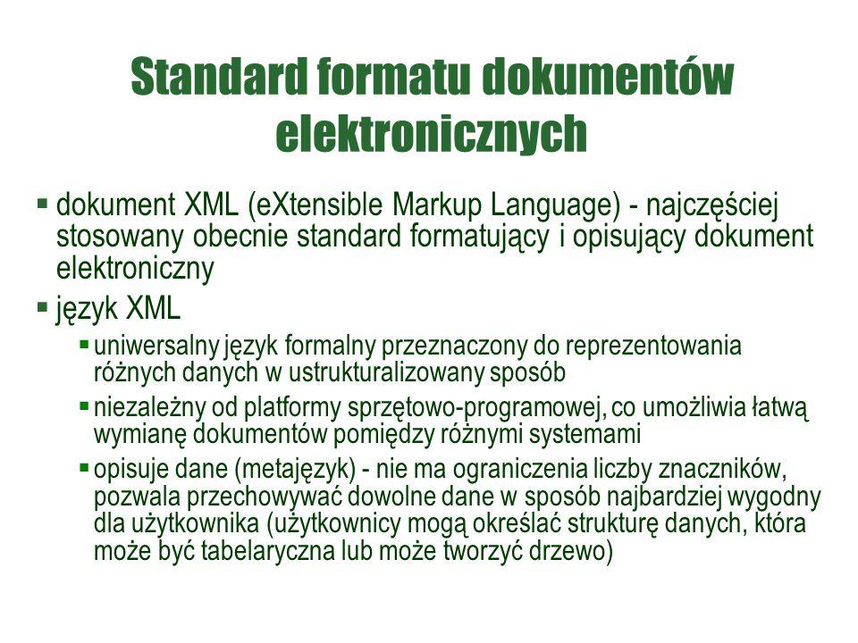 Standard formatu dokumentów elektronicznych