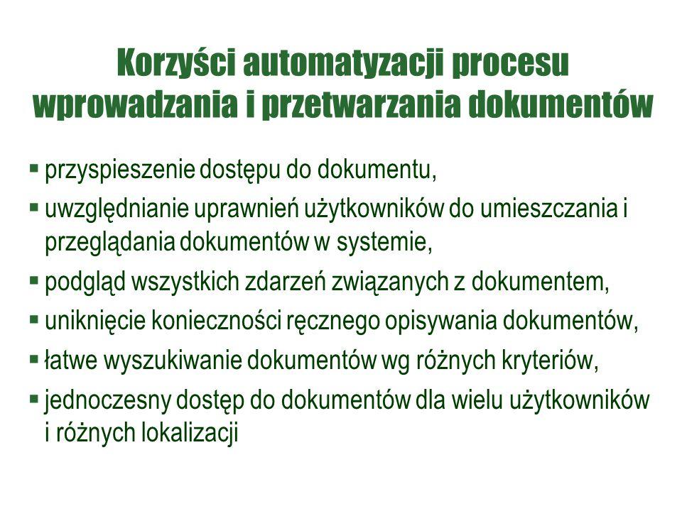 Korzyści automatyzacji procesu wprowadzania i przetwarzania dokumentów