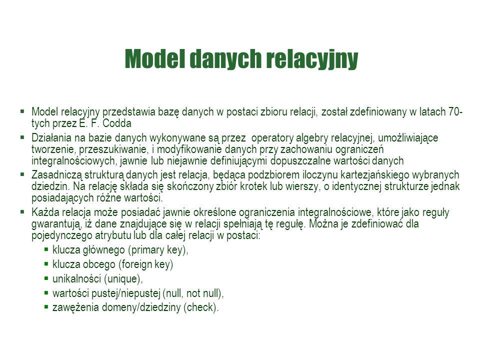 Model danych relacyjny