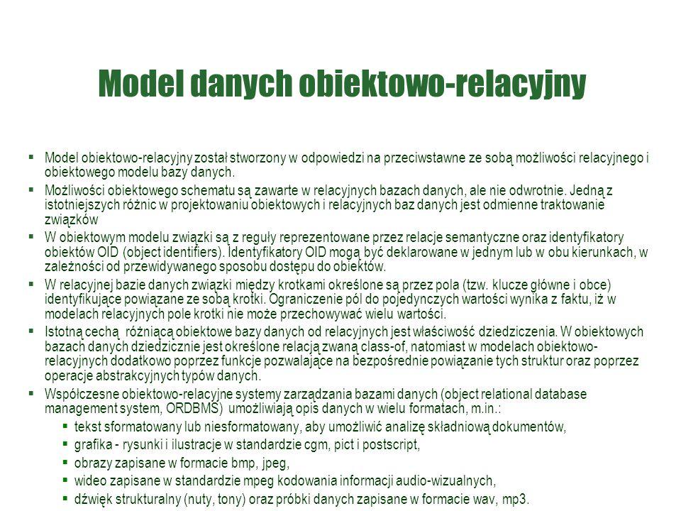 Model danych obiektowo-relacyjny