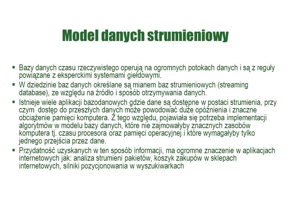 Model danych strumieniowy