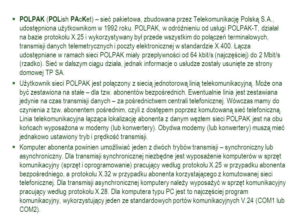 POLPAK (POLish PAcKet) – sieć pakietowa, zbudowana przez Telekomunikację Polską S.A., udostępniona użytkownikom w 1992 roku. POLPAK, w odróżnieniu od usługi POLPAK-T, działał na bazie protokołu X.25 i wykorzystywany był przede wszystkim do połączeń terminalowych, transmisji danych telemetrycznych i poczty elektronicznej w standardzie X.400. Łącza udostępniane w ramach sieci POLPAK miały przepływności od 64 kbit/s (najczęściej) do 2 Mbit/s (rzadko). Sieć w dalszym ciągu działa, jednak informacje o usłudze zostały usunięte ze strony domowej TP SA.