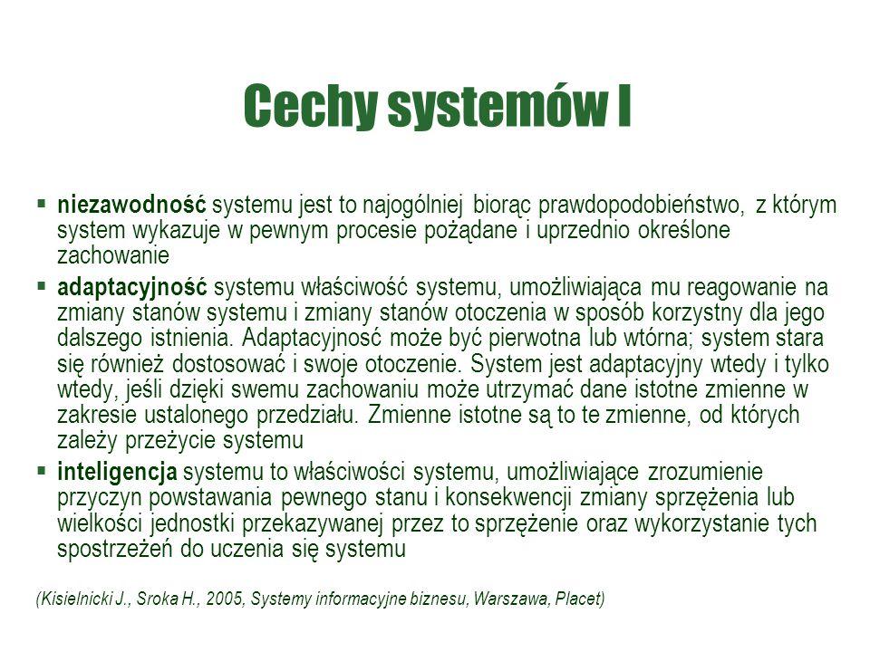 Cechy systemów I