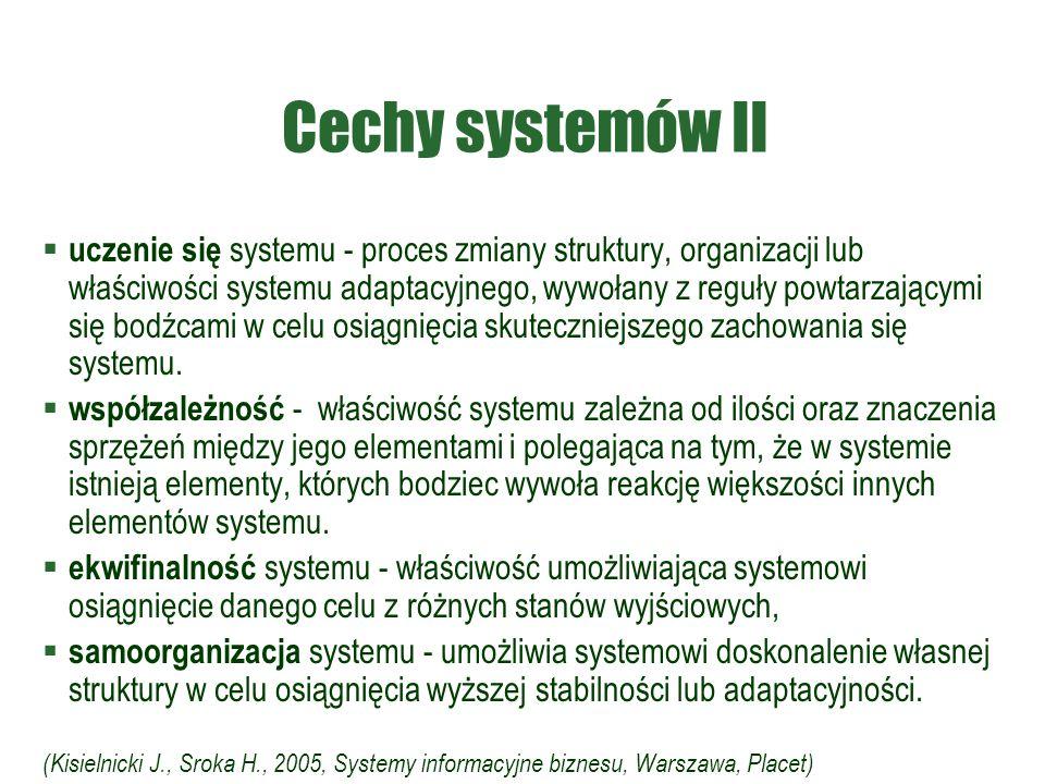 Cechy systemów II
