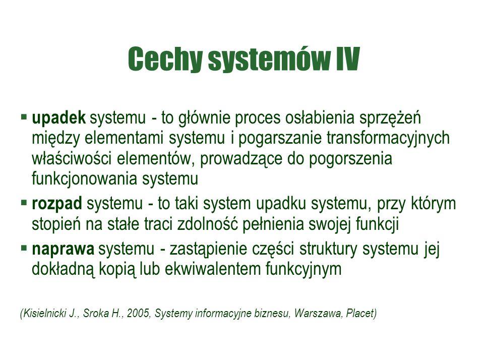 Cechy systemów IV