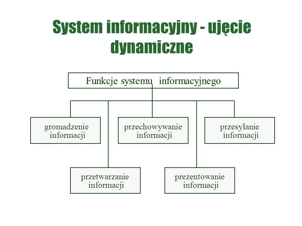 System informacyjny - ujęcie dynamiczne
