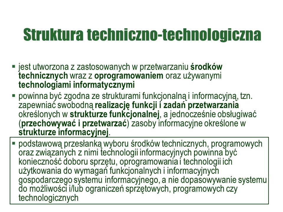 Struktura techniczno-technologiczna