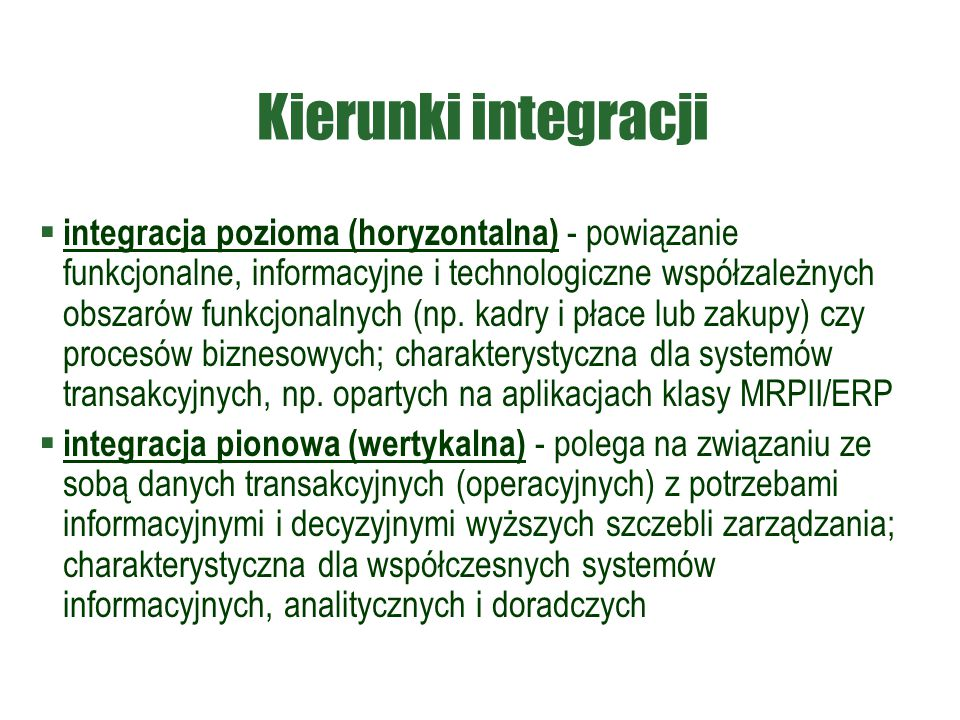 Kierunki integracji