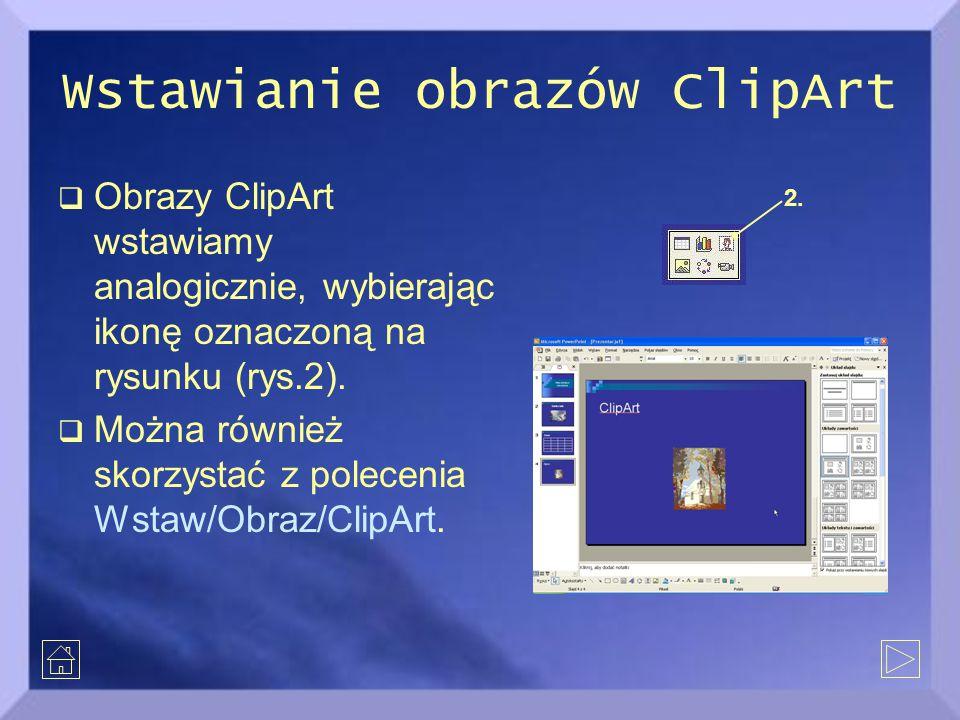Wstawianie obrazów ClipArt