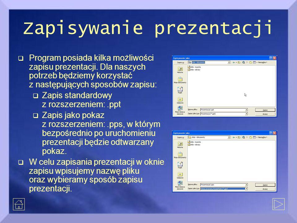 Zapisywanie prezentacji