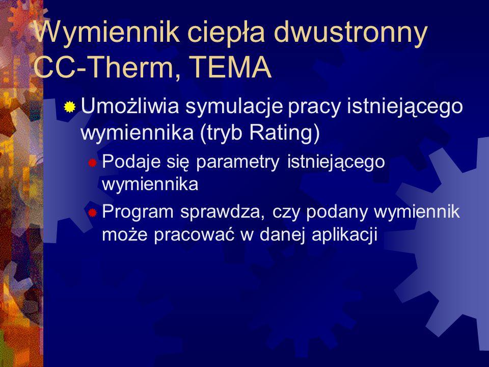 Wymiennik ciepła dwustronny CC-Therm, TEMA
