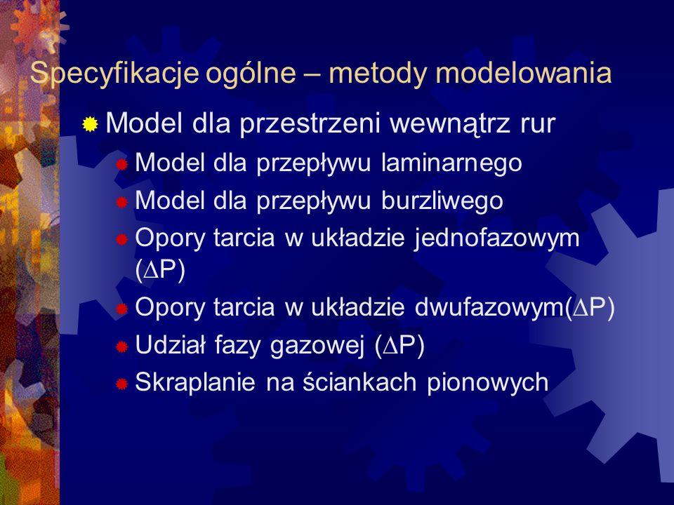 Specyfikacje ogólne – metody modelowania