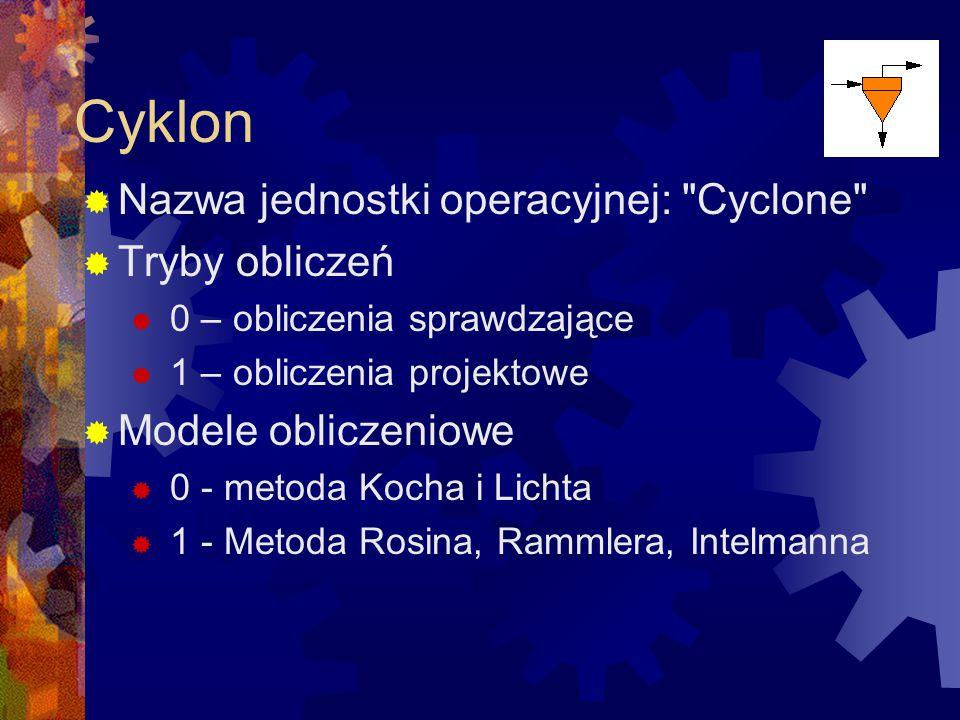 Cyklon Nazwa jednostki operacyjnej: Cyclone Tryby obliczeń