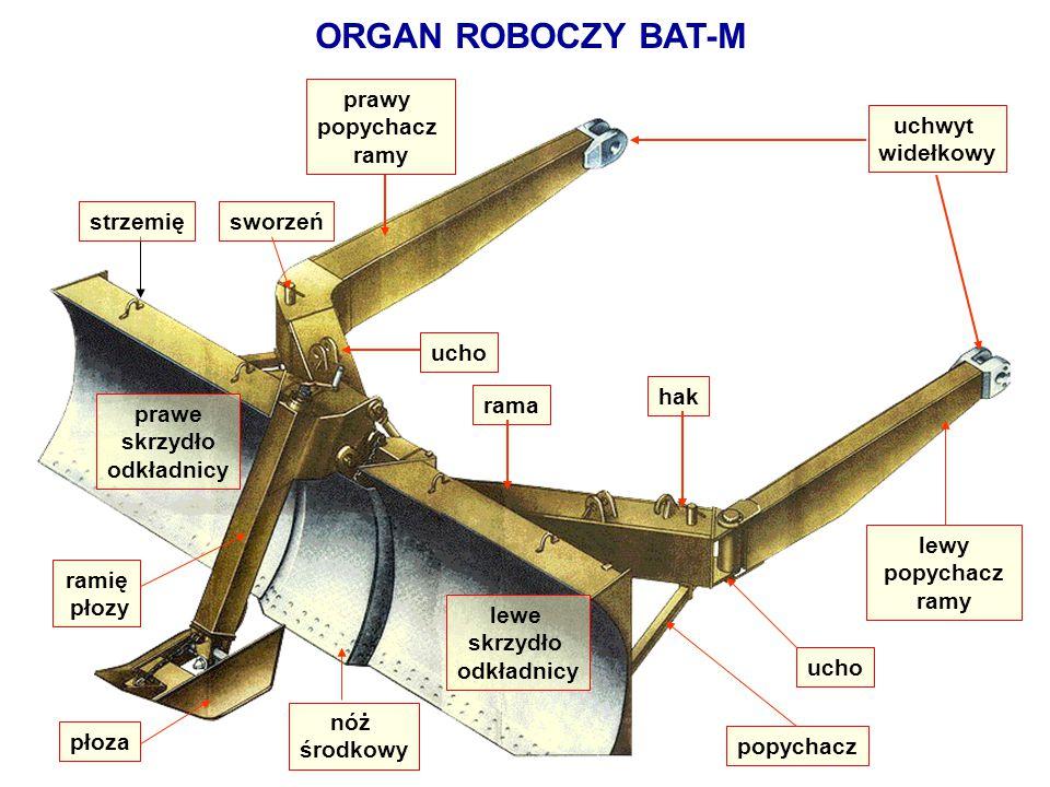 ORGAN ROBOCZY BAT-M prawe skrzydło odkładnicy popychacz nóż środkowy