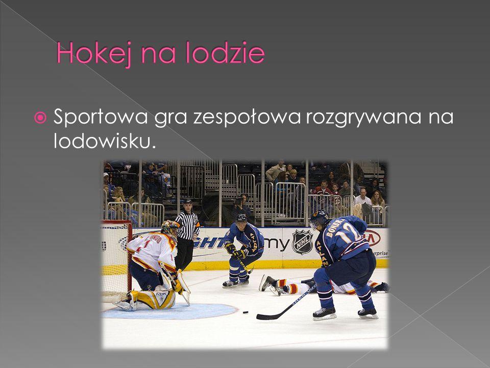 Hokej na lodzie Sportowa gra zespołowa rozgrywana na lodowisku.