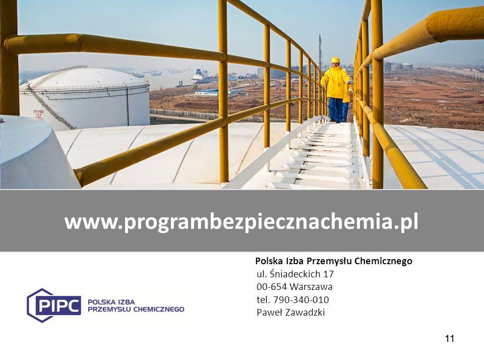 www.programbezpiecznachemia.pl Polska Izba Przemysłu Chemicznego