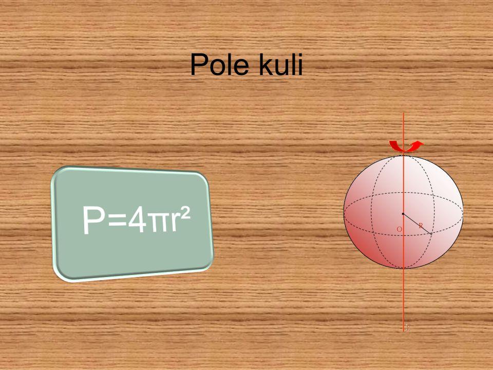 Pole kuli P=4πr²