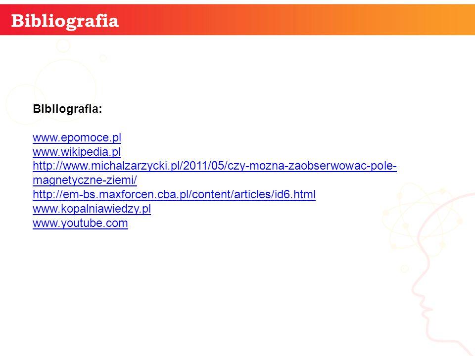 Bibliografia informatyka + Bibliografia: www.epomoce.pl