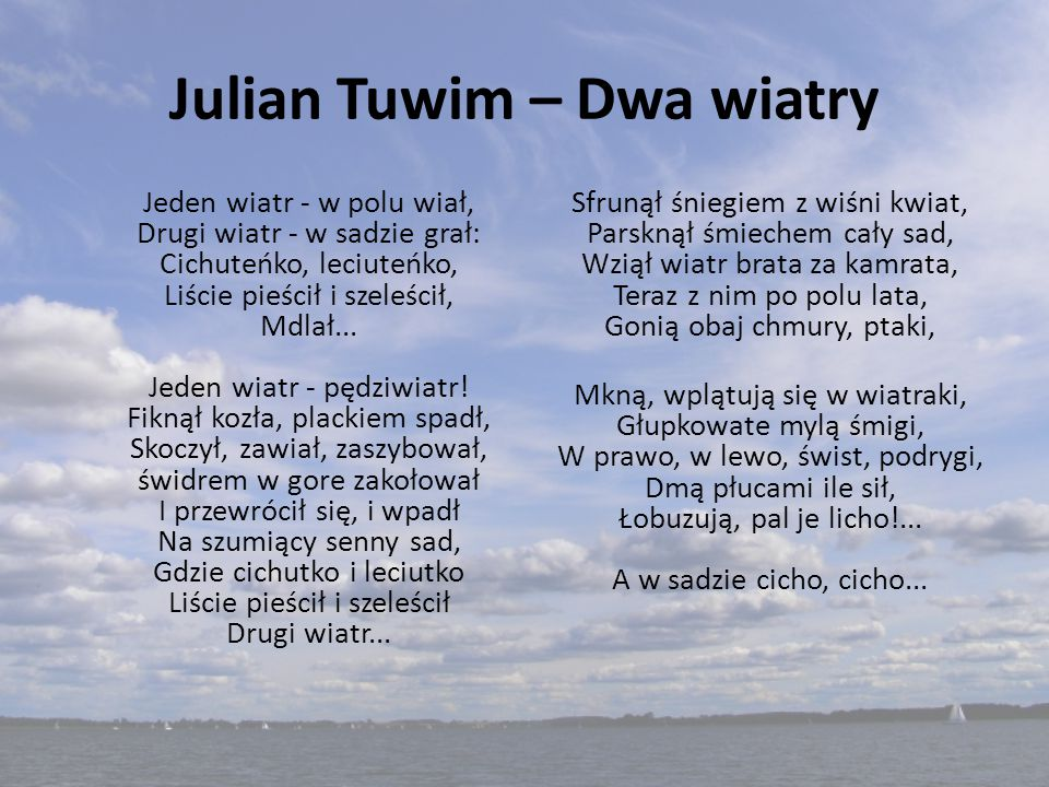 Julian Tuwim – Dwa wiatry