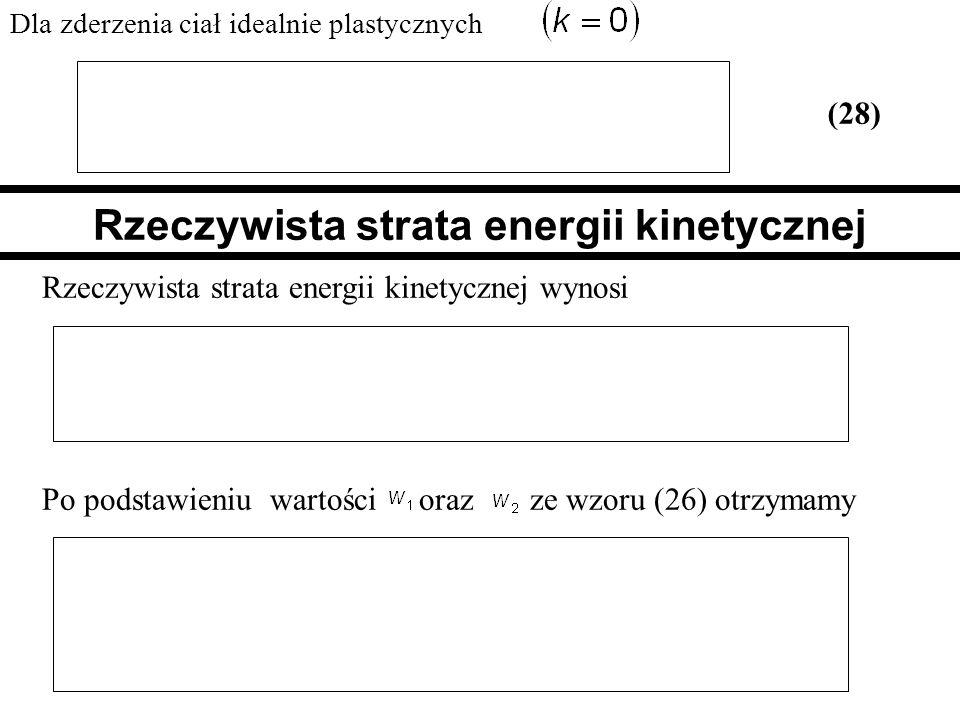 Rzeczywista strata energii kinetycznej