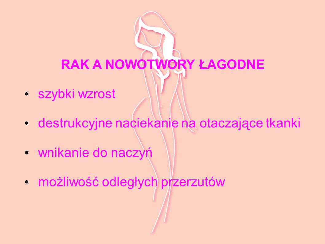 RAK A NOWOTWORY ŁAGODNE