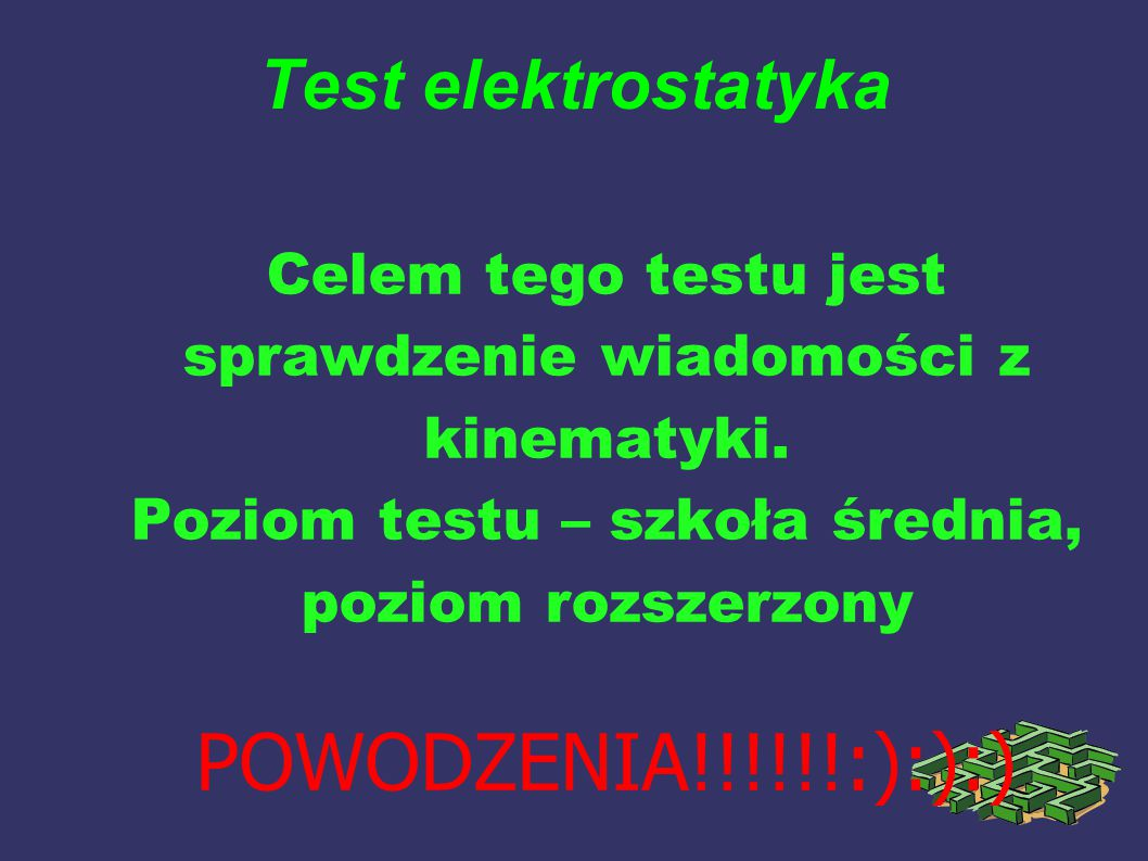 Test elektrostatyka