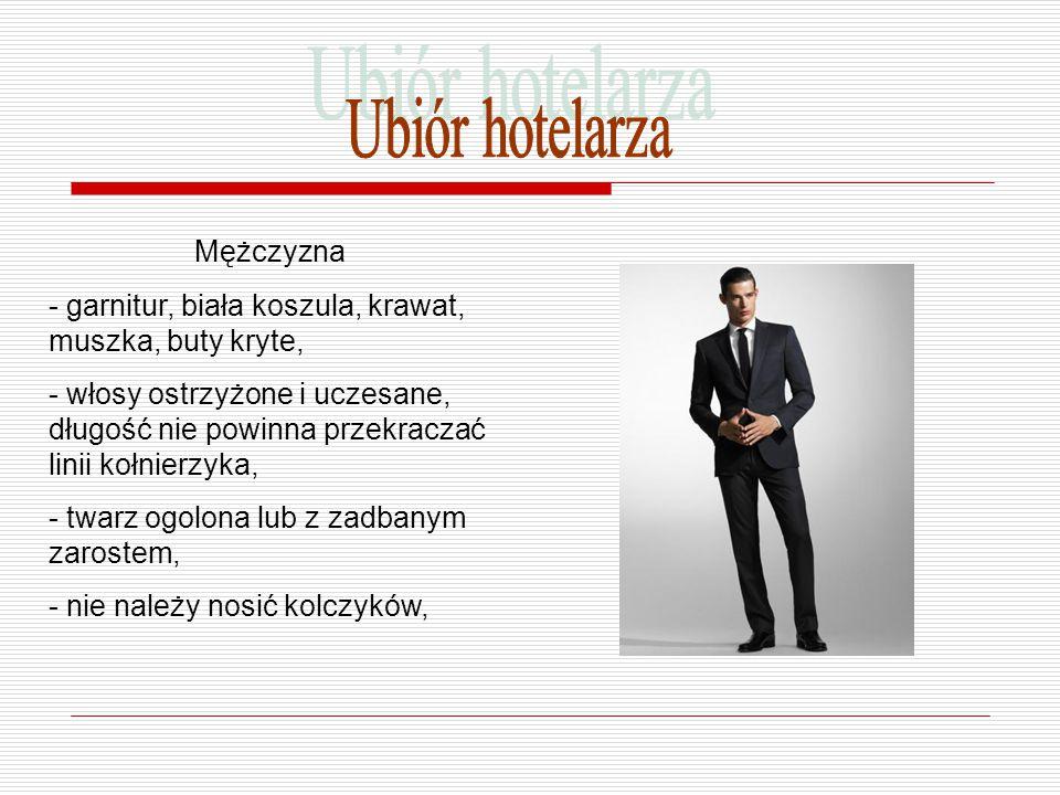 Ubiór hotelarza Mężczyzna
