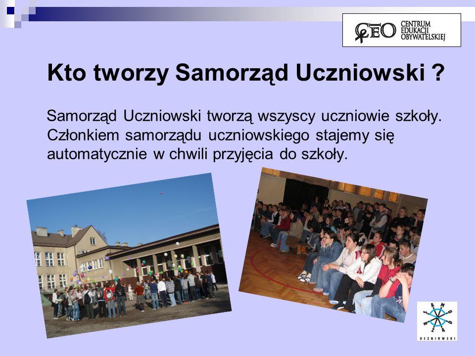 Kto tworzy Samorząd Uczniowski
