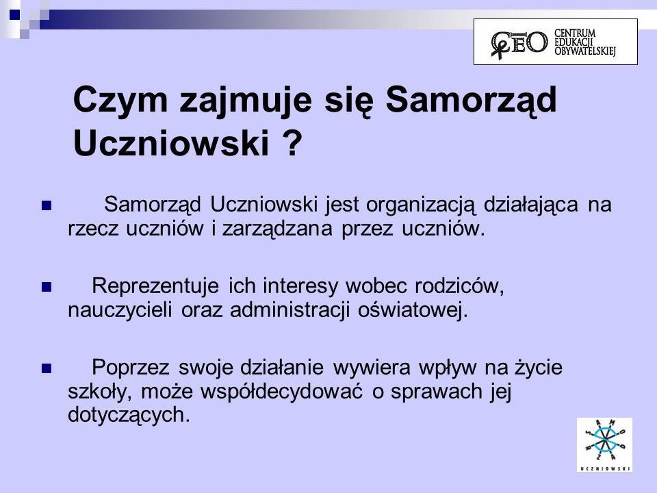 Czym zajmuje się Samorząd Uczniowski