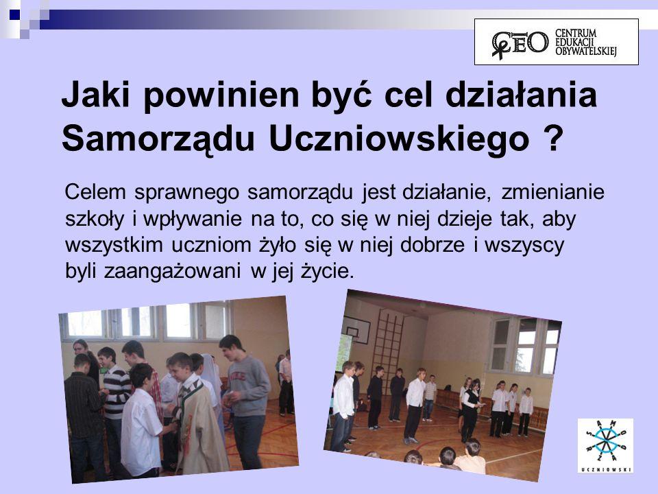 Jaki powinien być cel działania Samorządu Uczniowskiego
