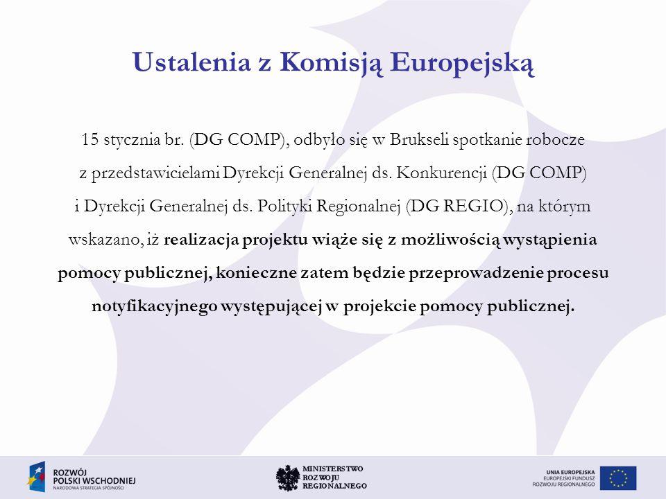 Ustalenia z Komisją Europejską