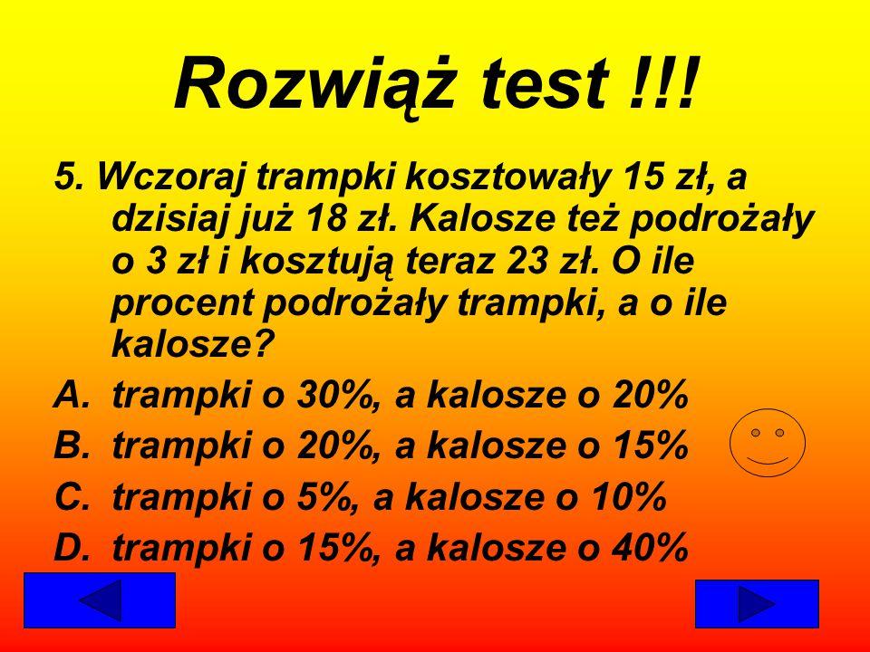 Rozwiąż test !!!