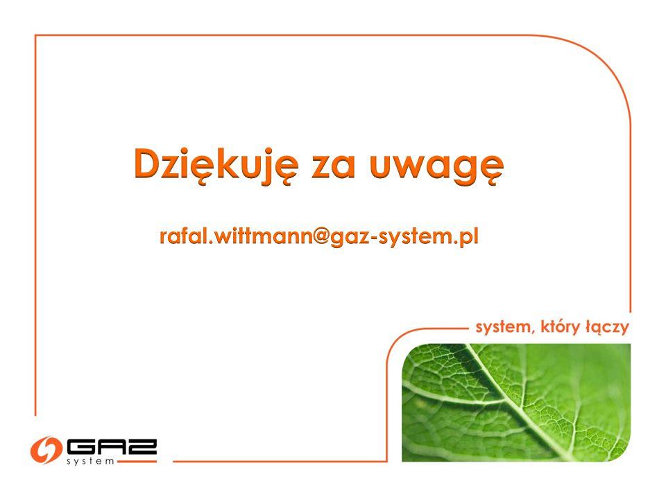 Dziękuję za uwagę rafal.wittmann@gaz-system.pl