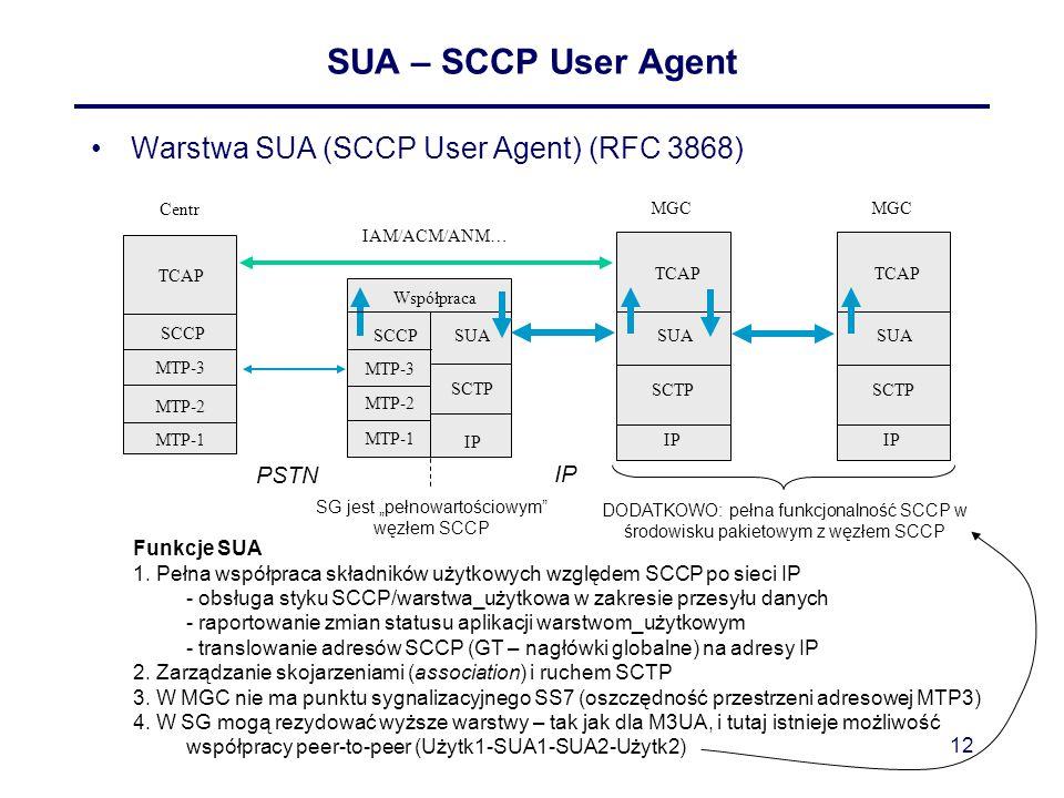 """SG jest """"pełnowartościowym węzłem SCCP"""