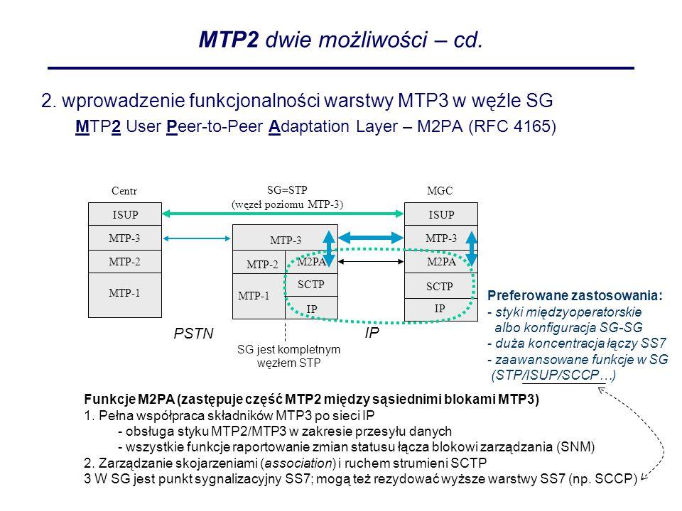 MTP2 dwie możliwości – cd.