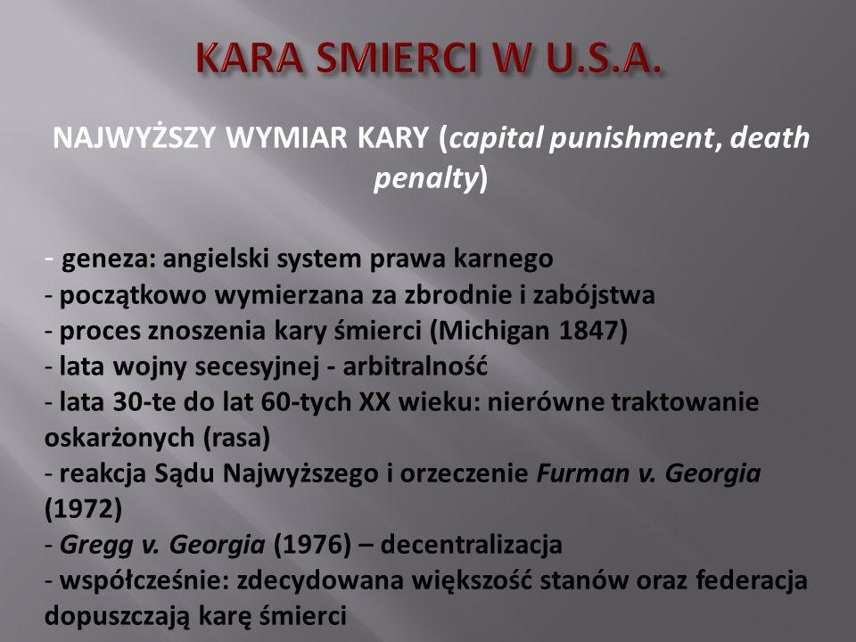 NAJWYŻSZY WYMIAR KARY (capital punishment, death penalty)