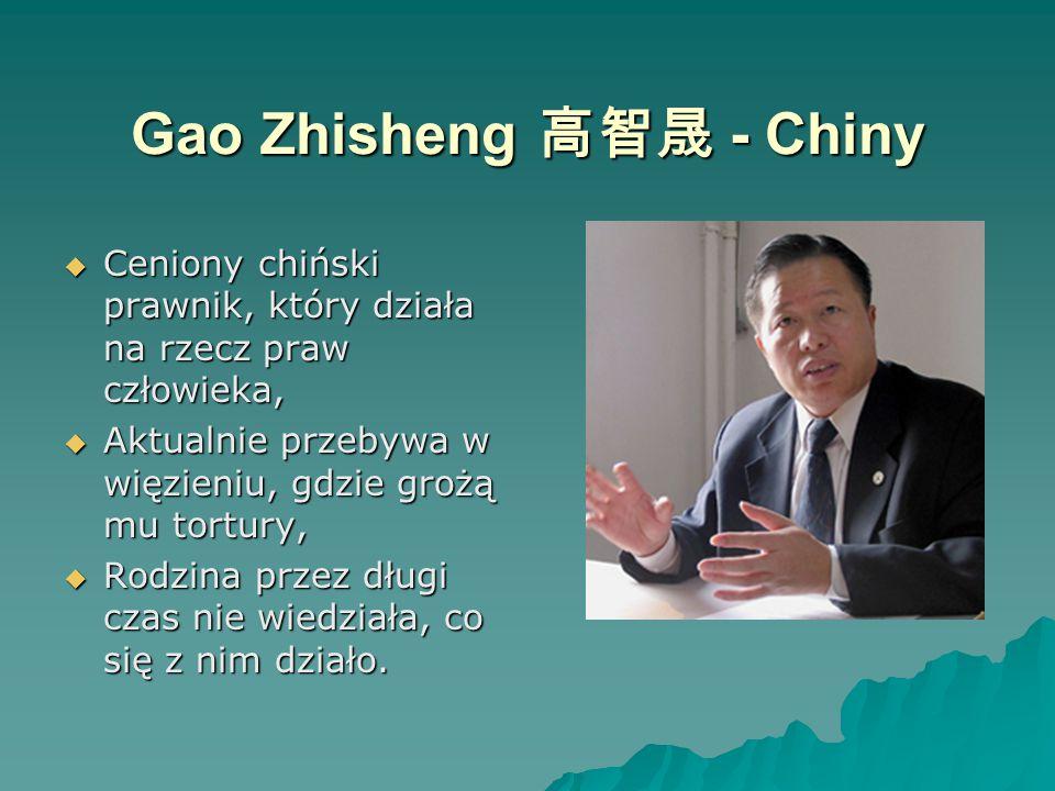 Gao Zhisheng 高智晟 - Chiny