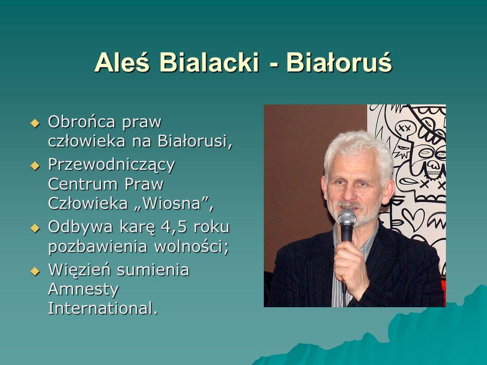 Aleś Bialacki - Białoruś