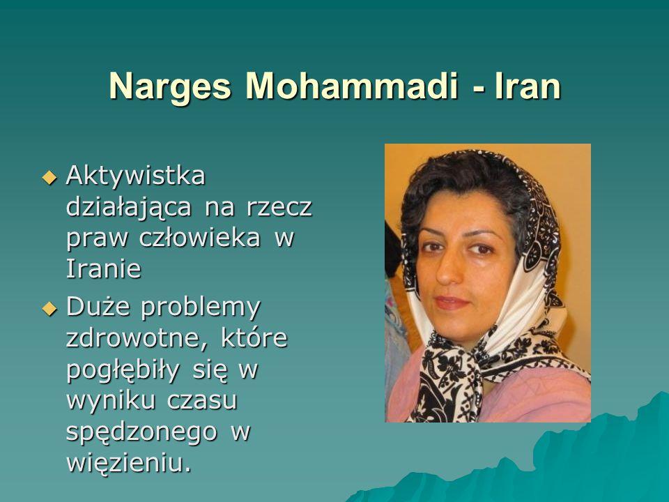 Narges Mohammadi - Iran